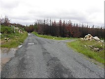 G7497 : Forestry area, Loughfad by Kenneth  Allen