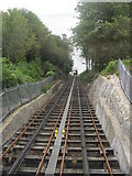 SX9265 : Looking down the Babbacombe cliff railway by andrew auger