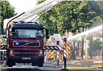 J3472 : Fire appliances (on call), Belfast (3) by Albert Bridge