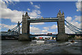 TQ3380 : Tower Bridge with a London bus by Chris Allen