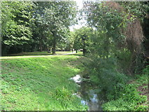 TQ4667 : River Cray and riverside path by David Anstiss
