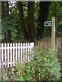TM4159 : Restricted Byway sign to Priory Road by Adrian Cable