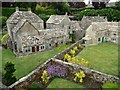 SP1620 : Bourton back gardens [in miniature] by Christine Johnstone