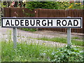 TM4160 : Aldeburgh Road sign by Adrian Cable