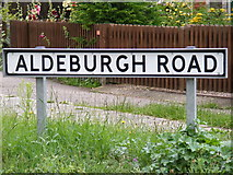 TM4160 : Aldeburgh Road sign by Geographer