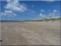 SH5631 : Harlech beach by Richard Law