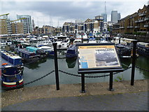 TQ3680 : Information about Limehouse Basin by Marathon