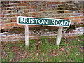 TG0827 : Briston Road sign by Adrian Cable
