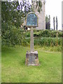 TG0827 : Wood Dalling Village sign by Adrian Cable
