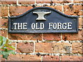 TG0827 : The Old Forge sign by Adrian Cable