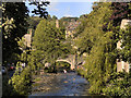 SD9927 : Hebden Water and Hebden Bridge by David Dixon