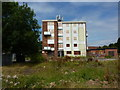 SK3933 : Boarded up flats by Peter Barr