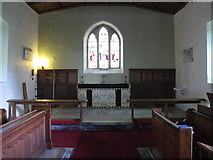 NY9257 : St. Helen's  Church, Whitley Chapel - chancel by Mike Quinn