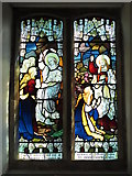 NY9257 : St. Helen's  Church, Whitley Chapel - stained glass window by Mike Quinn