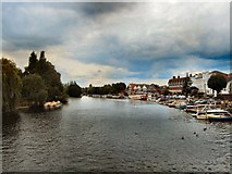 SU7682 : River Thames view from Henley Bridge by Paul Gillett