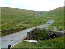 SN9071 : New and old bridges, Pont ar Elan by Andrew Hill