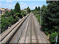 TQ3569 : Railway and tram lines north of Avenue Road by Stephen Craven
