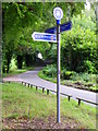 SU1234 : Sign post Little Durnford by Maigheach-gheal