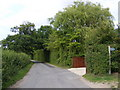 TM2451 : Boulge Road & the footpath to Whitehouse Farm by Adrian Cable