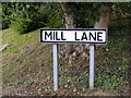 TM2450 : Mill Lane sign by Adrian Cable