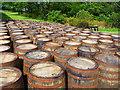 NR3845 : Bourbon casks at Laphroaig by John Allan