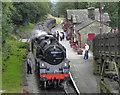 SE0337 : Steam Locomotive at Haworth Station by David Dixon