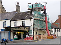 NZ0516 : Building work on Galgate by Maigheach-gheal