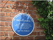 TQ4666 : Blue Plaque on Priory Gardens Gate by David Anstiss