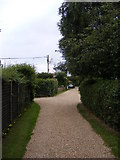 TM4160 : Donkey Lane, Friston & footpath to Mill & Low Roads by Geographer