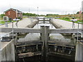 NS8579 : The top lock on the Union Canal by M J Richardson