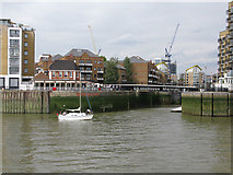 TQ3680 : Entrance to Limehouse Marina by Nick Smith
