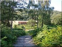 TQ1148 : View downhill towards Leasers Barn by Stefan Czapski