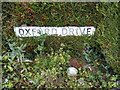 TM2548 : Oxford Drive sign by Adrian Cable