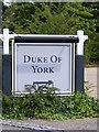 TM2548 : Duke of York Public House sign by Geographer