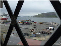 HU4039 : Scalloway: looking over the harbour from the castle by Chris Downer