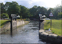 SE3419 : Fall Ing Flood Gate from below by Mike Todd