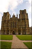 ST5545 : Wells Cathedral by Adrian Channing