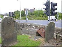 SD4520 : Horse Trough at St Mary's Old Church (Tarleton Old Church) Windgate (A59) Tarleton by Robert Wade