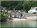 SW8439 : West Slipway King Harry Ferry by Steve Barnes