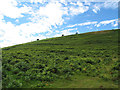 SX6980 : Lynchets near Challacombe by Stephen Craven