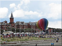 J3731 : Hot air balloon at the Slieve Donard Hotel by Eric Jones