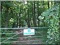 TF0476 : Entrance gate to Station Plantation by J.Hannan-Briggs