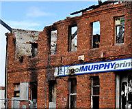 J3472 : Fire-damaged premises, Belfast by Albert Bridge