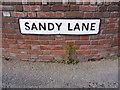 TM2247 : Sandy Lane sign by Geographer