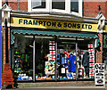 SU1405 : Framptons shop front, High Street, Ringwood by Peter Facey