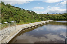NS8579 : Basin on the Union Canal above the Falkirk Wheel by Mike Pennington