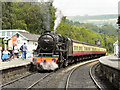 NZ8205 : Eric Treacy at Grosmont Station by David Dixon