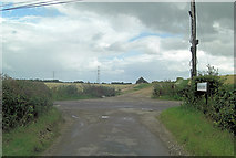 SU5557 : Rectory Road junction at Sawyer's Grave by Stuart Logan