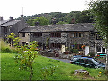 SD9321 : Cottages, Square Road, Walsden by Robert Wade