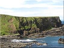 C9444 : The Camel's Back Stack and a cliff landslip at Portnaboe by Eric Jones
